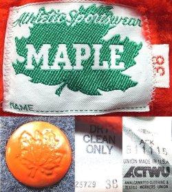 画像4: Deadstock 1990'S MAPLE VARSITY JK メイプル メルトン スタジャン USA製 青×赤