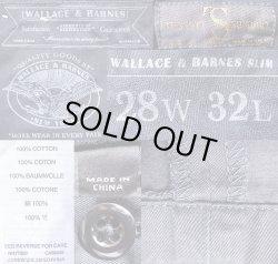 画像3: WALLACE & BARNES Slim Fit Trousers Black 100% COTTON Italian Fabric