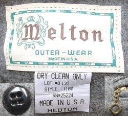 画像4: Deadstock 1980-90'S Melton Outer Wear メルトン CPO JK 灰ウール Made in USA