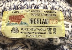 画像4: Deadstock 1990'S HIGHLAND CLUB PURE WOOL Blue Mix タートル イギリス製