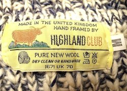 画像4: Deadstock 1990'S HIGHLAND CLUB PURE WOOL Navy Mix ハイネック イギリス製
