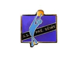"""画像1: Vintage Pins(ヴィンテージ・ピンズ)#0226 """"A.S. PRE BENIT""""  Made in France"""