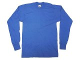 Deadstock 1990'S FRUIT OF THE LOOM Long Sleeve Tee Blue ロンT カナダ製