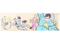 画像1: H BAR C RANCHWEAR  Advertising Banner 1950'S エイチバーシー・バナー特大