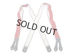 画像2: Filson Tab Suspenders フィルソンタブ サスペンダー 本革×平ゴム 赤 アメリカ製