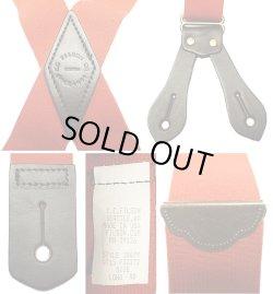 画像3: Filson Tab Suspenders フィルソンタブ サスペンダー 本革×平ゴム 赤 アメリカ製