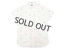 画像1: J.CREW Washed Oxford B.D. H/S Shirts ロブスター総柄  白 半袖ボタンダウン