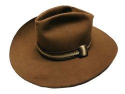 画像1: Deadstock 1980-90'S Resistol Hickory Bow Cowboy Hat レジストル アメリカ製