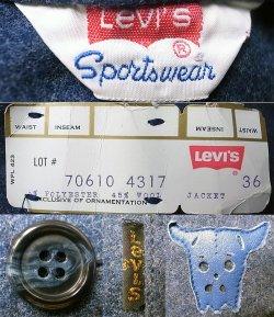 画像5: Deadstock 1970'S LEVI'S Sporswear Melton Riders JK  Remake women's size #3