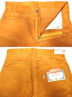 "画像3: Deadstock 1970'S LEVI'S 607 BIG""E"" BELL BOTTOMS 別珍コーデュロイ USA製"