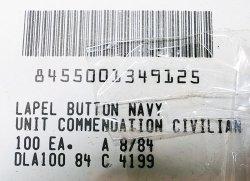 画像5: Deadstock 1984'S LAPEL BUTTON NAVY UNIT COMMENDATION CIVILIAN 袋入