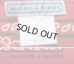 画像4: WALLACE & BARNES Vintage Bandana 赤ペリズリ― ウォレス&バーンズ バンダナ