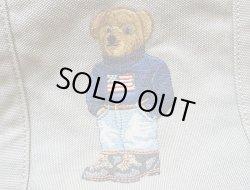 画像4: POLO BEAR TOTE BAG GREY ポロ・ベアー 刺繍 キャンバストートバック 灰