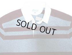 画像3: J.CREW Border Rugger Shirts 灰×バーガンディ ジェイ・クルー ラガーシャツ