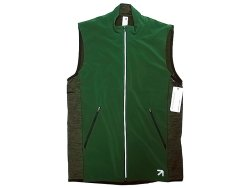 画像1: New balance x J.Crew 0683 NB HEAT Stretch Power Mesh Zip Vest 緑×灰