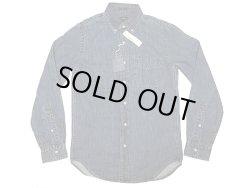 画像1: J.CREW Indigo Denim B.D. Shirts ジェイ・クルー デニム・ボタンダウン Vintage加工