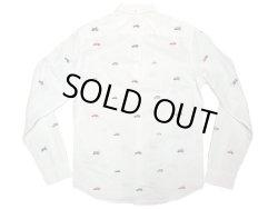 画像2: J.CREW Washed Oxford B.D. Shirts 車刺繍 総柄 白 オックスフォード・ボタンダウン