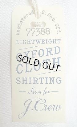 画像5: J.CREW Washed Oxford B.D. Shirts 車刺繍 総柄 白 オックスフォード・ボタンダウン