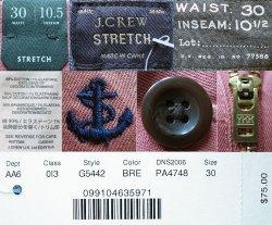 画像4: J.CREW STRETCH Shorts 錨刺繍総柄 サーモンピンク×紺 ストレッチ・ショーツ