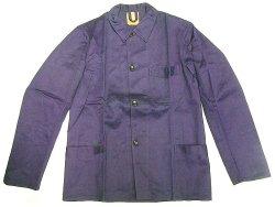 画像1: Deadstock 1950'S STABILO Cotton Satin Work JK 紺コットン・サテン EU製