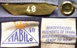 画像3: Deadstock 1960'S STABILO Cotton Twill  Work JK 紺コットン・ツイル EU製