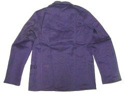 画像2: Deadstock 1950'S STABILO Cotton Satin Work JK 紺コットン・サテン EU製