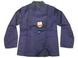 画像1: Deadstock 1960'S DETIS Cotton Satin Work JK 紺コットン・サテン EU製