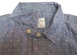 画像3: J.CREW Dot Blue Chambray Shirts  Chin-Strap One-Wash ドット抜染 柄