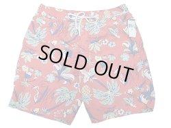 画像1: POLO Ralph Lauren Swim Shorts ポロ・ラルフ ハワイアン柄 赤 スイム・ショーツ