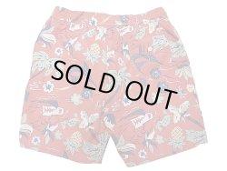 画像2: POLO Ralph Lauren Swim Shorts ポロ・ラルフ ハワイアン柄 赤 スイム・ショーツ