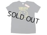 NIRVANA Tee Black×Yellow Print RING SPUN(丸胴) 綿  ニルヴァーナ T 黒