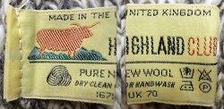 画像3: Deadstock 1990'S HIGHLAND CLUB PURE WOOL KNIT CAP CHL Mix イギリス製