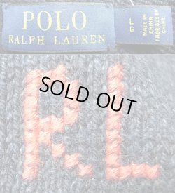 画像4: POLO Ralph Lauren BEAR Sweater ポロ・ベアークルーセーター 紺 リネン混