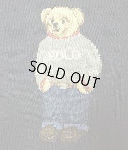 画像3: POLO Ralph Lauren BEAR Sweater ポロ・ベアークルーセーター 紺 リネン混