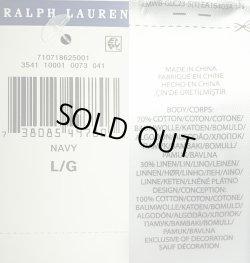 画像5: POLO Ralph Lauren BEAR Sweater ポロ・ベアークルーセーター 紺 リネン混