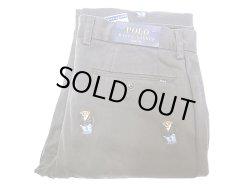 画像1: POLO BEAR Ralph Lauren  SLIM FIT Trousers ポロベアー 総柄刺繍 チノ