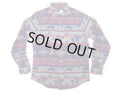 画像1: POLO Ralph Lauren Western Shirts Classic Fit 織生地 ウエスタンシャツ