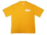 US.NAVY(USN) Physical Training Tee S/S 米海軍 フィジカルTee  黄 USA製