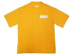 画像1: US.NAVY(USN) Physical Training Tee S/S 米海軍 フィジカルTee  黄 USA製