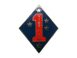 画像1: Deadstock US.Military Pins #677 USMC 1st Marine Division VIETNAM Pin