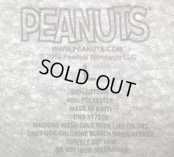 """画像4: PEANUTS Snoopy """"CHILL"""" 杢グレー ピーナッツ スヌーピーTee  ハイチ製"""