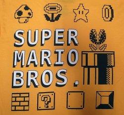 画像4: SUPER MARIO BROS. 100%COTTON スーパーマリオブラザーズ 黄 Tee