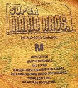 画像5: SUPER MARIO BROS. 100%COTTON スーパーマリオブラザーズ 黄 Tee