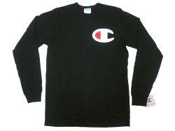 画像1: Champion®Heritage Long Sleeve Tee チャンピオン ヘリテージ ロンT ビッグC 黒
