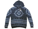 POLO Ralph Lauren Native Pattern Knit Hoodie ネイティブ柄 ニットパーカー
