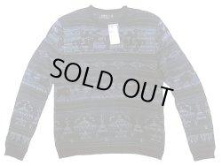 画像1: POLO Ralph Lauren Westren Pattern Sweater カウボーイ柄 クルーセーター