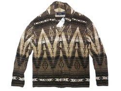 画像1: POLO Ralph Lauren Native Shawl Collar Cardigan ネイティヴ柄 コットン・カーデ