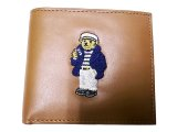 POLO BEAR LEATHER WALLET ポロ・ベアー 本革二折財布 Sailor TAN
