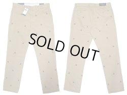 画像2: POLO Ralph Lauren Skull SLIM FIT Trousers Beige ポロ スカル総柄刺繍 チノ