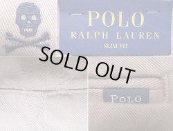 画像4: POLO Ralph Lauren Skull SLIM FIT Trousers Beige ポロ スカル総柄刺繍 チノ